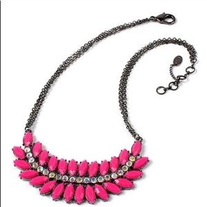 Amrita Singh NWT Pink & Austrian Crystal Necklace